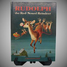 Vintage Large Golden Book Rudolph The Red-Nosed Reindeer 1968
