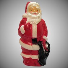 Vintage Hard Plastic Stand Up Santa Light 1968 Good Condition