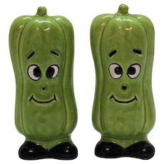Vintage Pickle S&P Shakers 1960s Good Condition