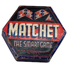 Vintage Matchet Table Game Complete 1930-40s Good Condition