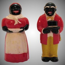 Vintage Hard Plastic Aunt Jemima & Uncle Mose S&P Set 1950s Good Vintage Condition