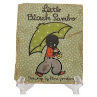 Vintage Little Black Sambo Hardcover Book 1934 Fair Condition