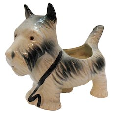 Vintage Ceramic Scotty/Scottie Dog Planter 1930-50s Good Condition