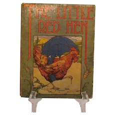 Vintage Hardcover Little Red Hen Book 1918 Fair Condition