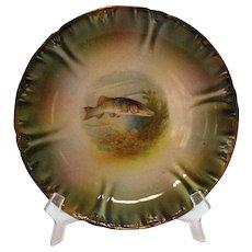 Vintage  Bonn Franzant Mehlem Fish Plate 1880-1920 Good Condition