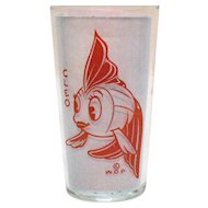 Two Vintage Cleo the Goldfish From Walt Disney's Pinocchio Story 1940s Good Condition