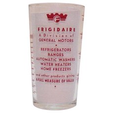 Vintage Frigidaire Advertising Glass Tumbler 1940-50s Good Condition