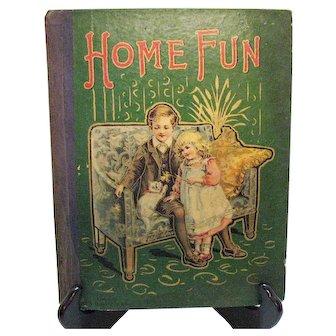 Vintage Home Fun Hardcover Book 1902 Good vintage Condition