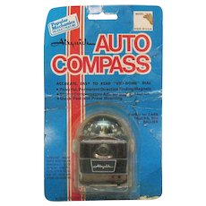 Vintage Auto Compass by Airquick 1976 Unopened on Original Package
