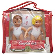 Vintage Campbell Soup Vinyl  Dolls in Original Package Never Played with