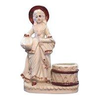 Vintage Porcelain Figurine Match Holder Striker Early 1900s Good Condition
