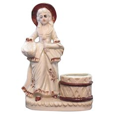 Vintage Porcelain Figurine Match Holder Striker Early 1900s Good Condition