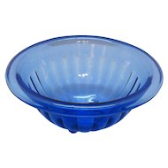 Vintage Hazel Atlas Moderntone Cobalt Blue Mixing bowl 1934-42 Good Vintage Condition
