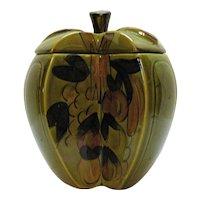 Vintage Los Angeles Potteries Apple Cookie Jar 1960s
