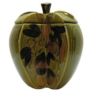 Vintage Los Angeles Potteries Apple Cookie Jar 1960s