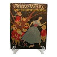Vintage Wonder Book Snow White & The Seven Dwarfs 1955 Good Condition