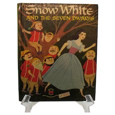 Vintage Wonder Book Snow White & The Seven Dwarfs 1955 Good Condition