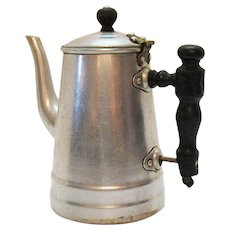Vintage Aluminum Coffee Pot by Tac. U. Co. Early 1900s Good Vintage Condition
