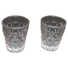 2 Vintage Fostoria American Shot/Whisky Glasses 1915-82 Good Condition