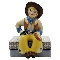 Vintage Ceramic Arts Studio Cowboy Shelf Sitter 1949 Good Condition