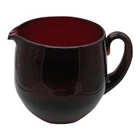 Vintage Ruby Red Pitcher 1950-60s Italian Hand blown Good Condition