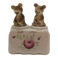 Vintage Young Bear Cubs Nodder Salt & Pepper Shakers 1930-50s Good Condition