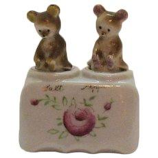 Vintage Young Bear Cubs Nodder Salt & Pepper Shakers 1930-50s Good Condition