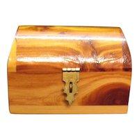 Vintage Domed Cedar Dresser Box Souvenir St. Petersburg Florida 1930-50s Good Condition