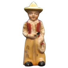 Vintage Bisque Porcelain 'Cowboy Figure 1930s Good Condition