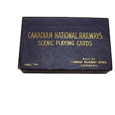Vintage Canadian National Railroad Souvenir Deck of Cards 1927 Good Condition