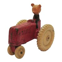 Vintage Sun Rubber Walt Disney Mickey Mouse Toy Tractor 1930s Vintage condition