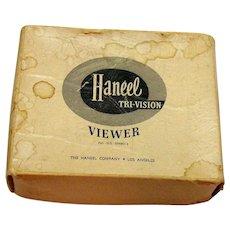 Vintage Haneel Viewer Paperwork Instructions Original Box 1946-49 Good Condition