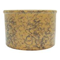 Vintage Robinson Ransbottom Stoneware Crock Bowl with Blue Spongeware Design Still in Good Condition