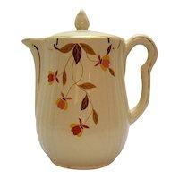 Vintage Hall for Jewel Tea Coffee Pot Autumn Leaf Pattern 1933-76 Good Condition