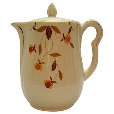 Vintage Hall for Jewel Tea Coffee Pot Autumn Leaf Pattern 1933-76 Good Condition