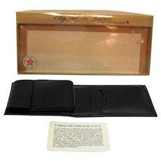 Vintage American Craftsmen Black Leather Wallet 1960-70s Never Used