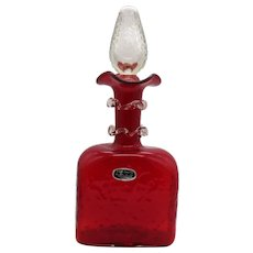 Vintage Mid-Century Ruby Red Decanter by Bischoff Good Condition