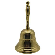 Vintage Single Brass Bell Made in India 1950s Good Condition