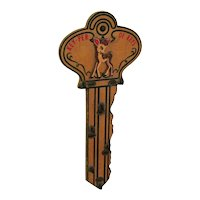Vintage Wooden Wall Key Holder 1940-50s Good Vintage Condition