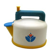 Vintage Hard Plastic Fisher Price Whistling Teapot from 1987 Good Condition