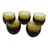 Five Vintage Moser Shot Glasses Culbuto Pattern 1935-44 Good Condition