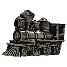 Vintage Mid-Century Ceramic Locomotive T.V. Lamp Good Condition