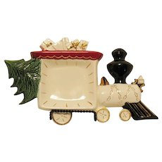 Vintage Ceramic Candy Dish Form of Train Engine 1960s Good Condition