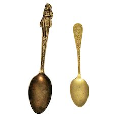 Two  Spoons Columbus 1892 World's Fair & Emilie 1890s Good Condition
