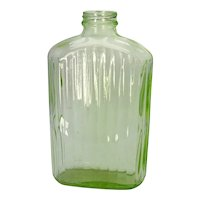 Vintage Hocking Transparent Green Water Jug 1930-40s No Lid Good Vintage Condition