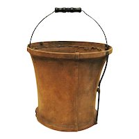 Vintage Military Folding Canvas Water Bucket Good Vintage Condition