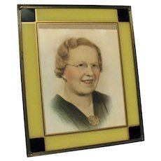 Vintage Art Deco Reverse Painted Picture Frame Good Condition
