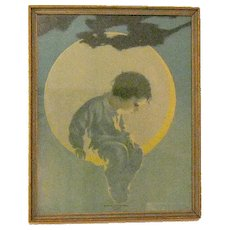 Vintage Print Where Dreams are Made by Victor C. Anderson 1920-30s Period Frame Good Vintage Condition