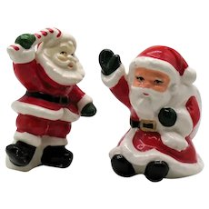 Vintage Ceramic Santa S&P Shakers 1960s Good Condition