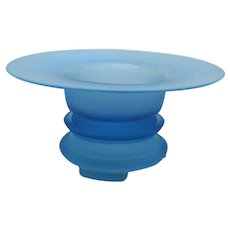 Vintage Satin Blue Console Bowl & Stand 1930s Good Vintage Condition with Free Shipping